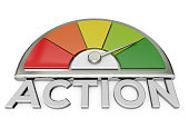 action chart stock photo