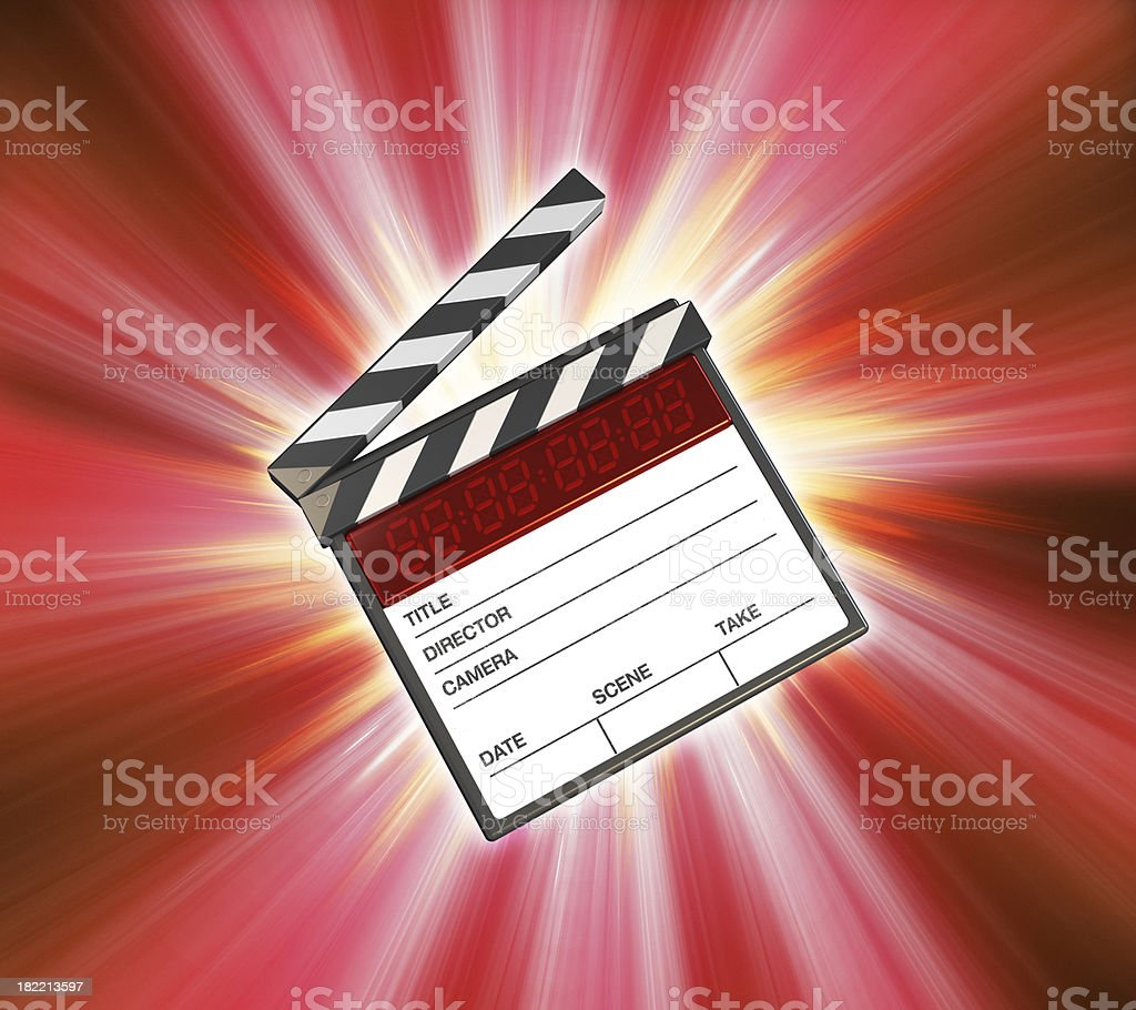 Action clapboard royalty-free stock photo