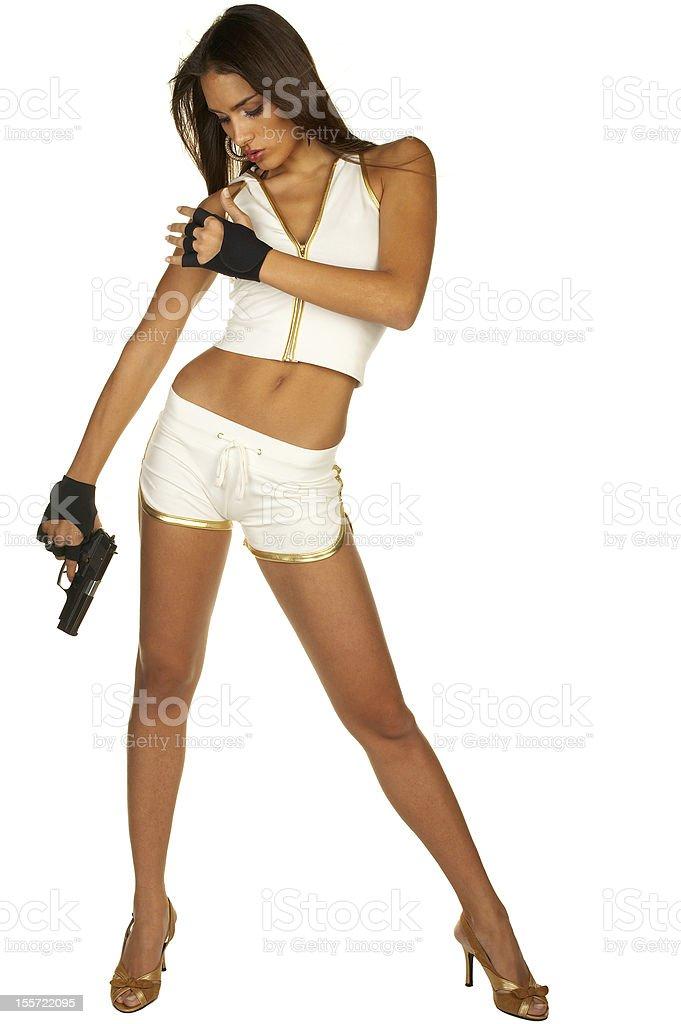 Action Girl stock photo