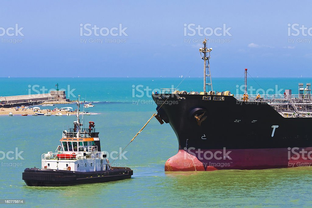action in the port stock photo
