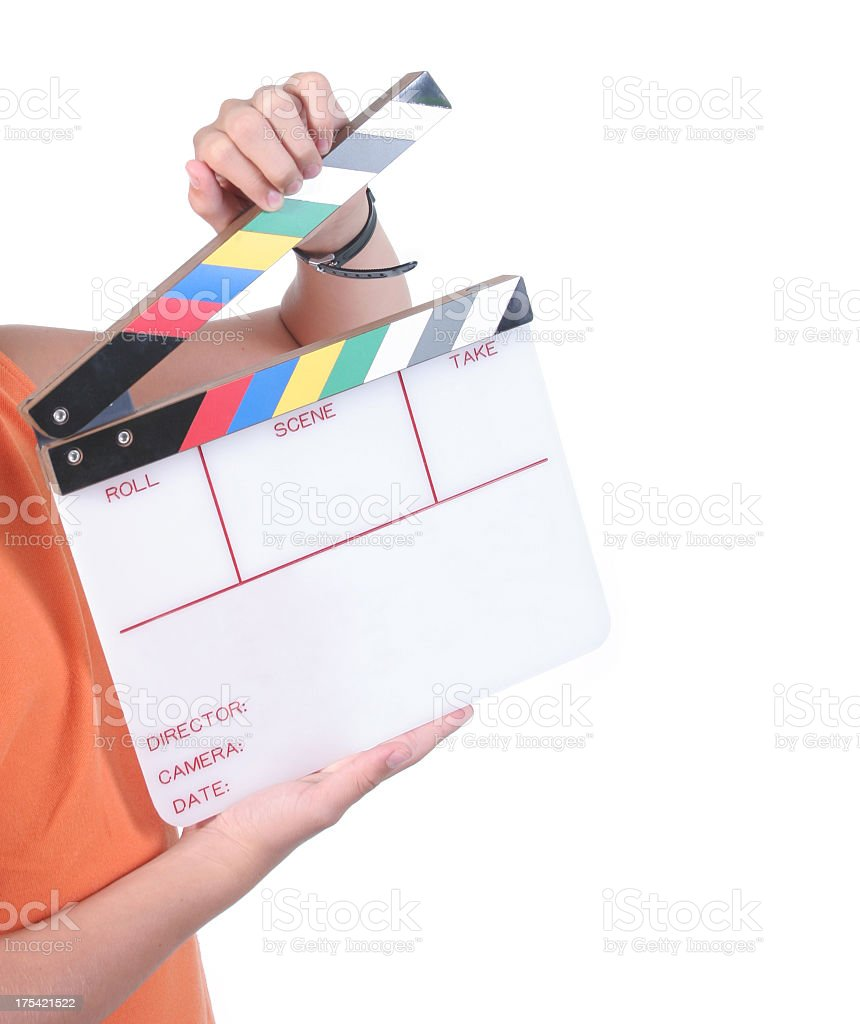 Action interview stock photo