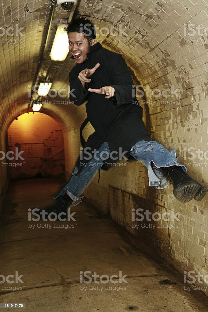 Action Jump Shot stock photo