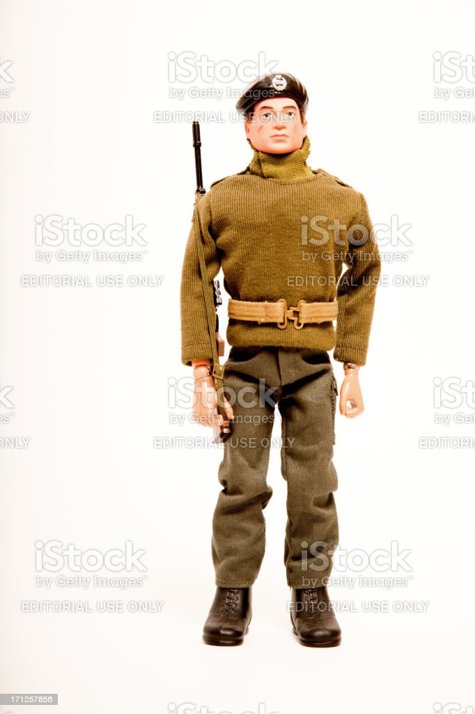 Action Man British Soldier Figure royalty-free stock photo