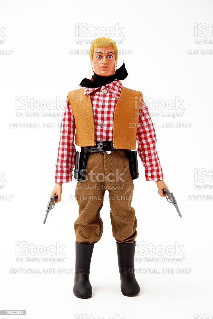 Action Man Cowboy Figure royalty-free stock photo