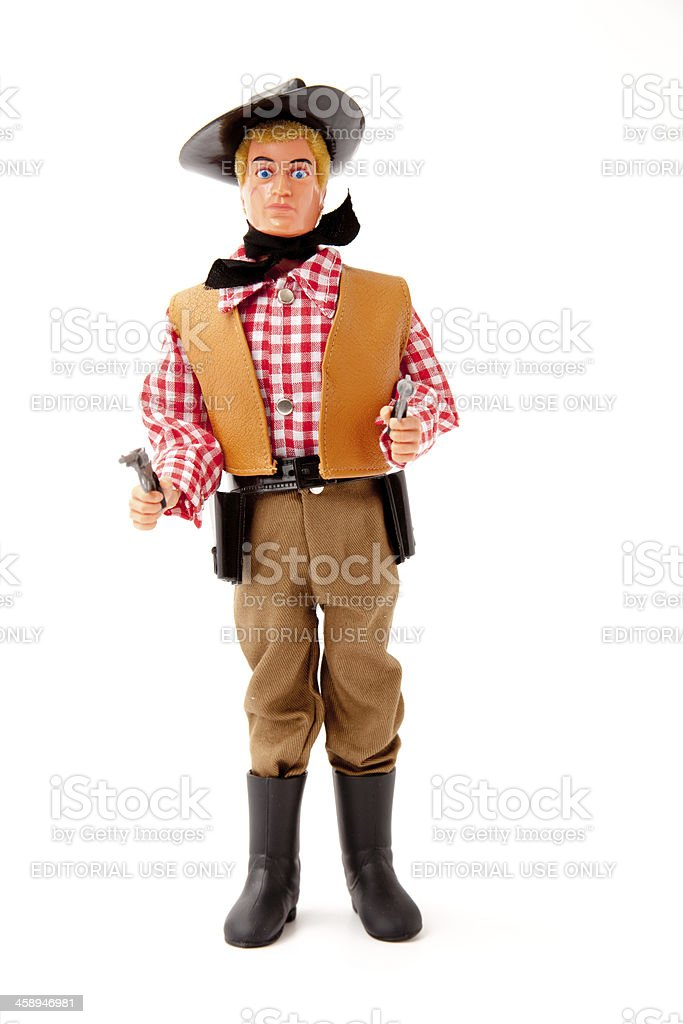 Action Man Figure In Cowboy Outfit royalty-free stock photo