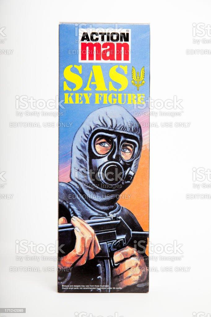 Action Man SAS Key Figure Box by Palitoy royalty-free stock photo