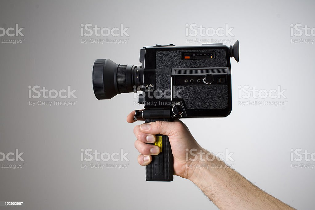 Action on 8mm Vintage Camera royalty-free stock photo