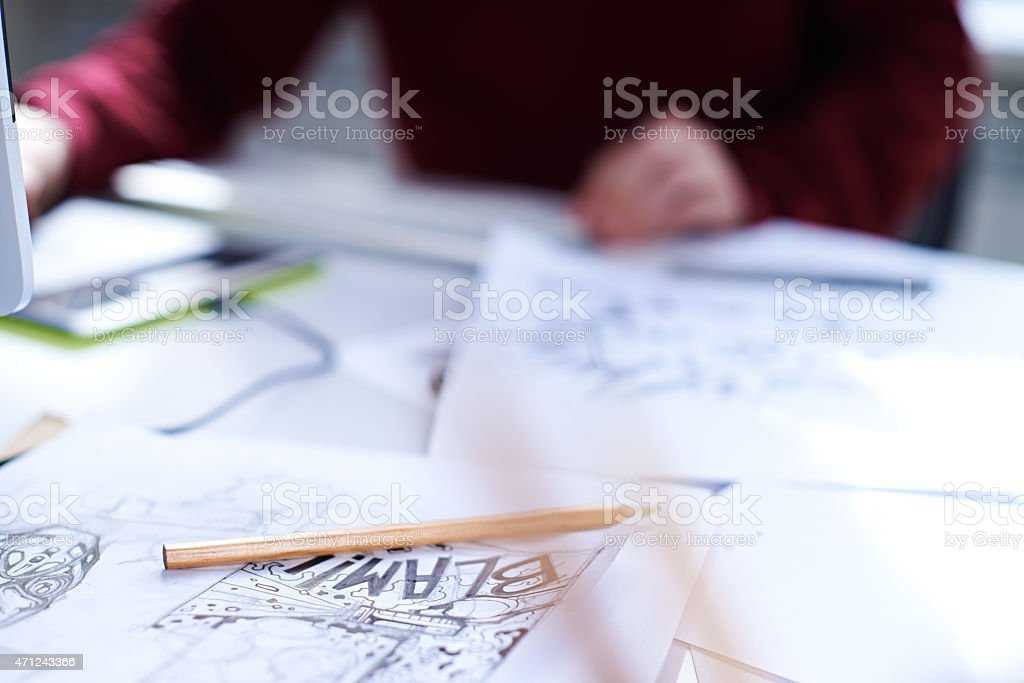 Action on picture stock photo