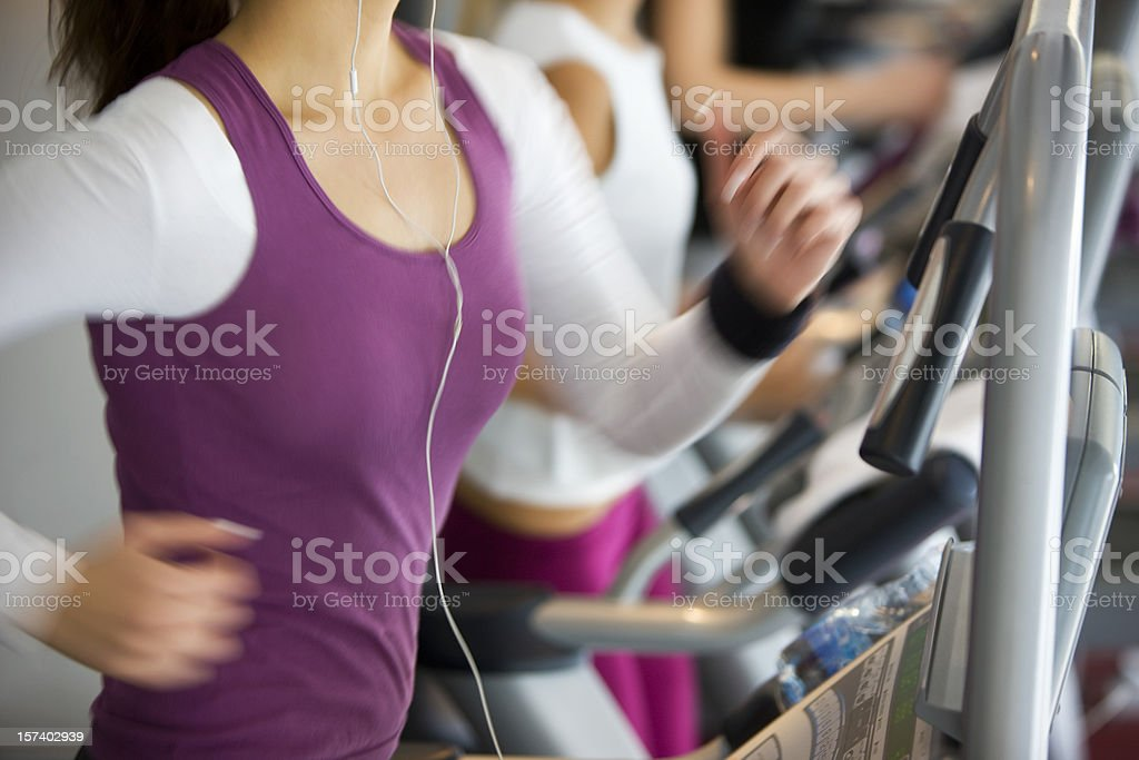Action on the treadmill royalty-free stock photo