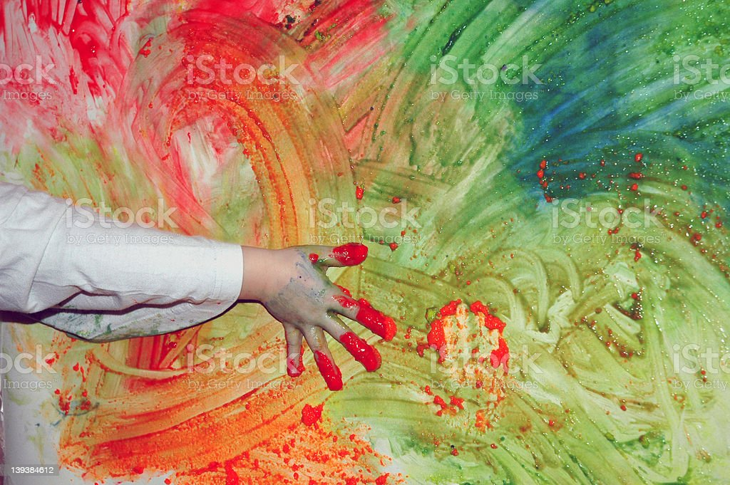 action painting caught in the act stock photo