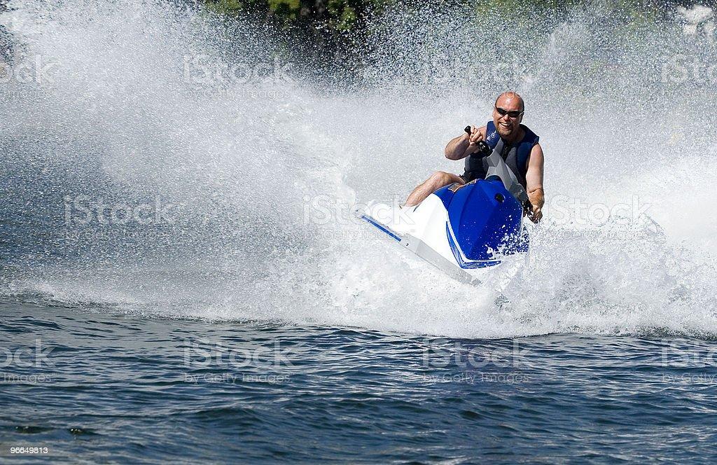 Action Photo Man on Seadoo Watercraft stock photo