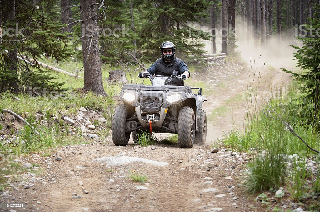 ATV Action royalty-free stock photo