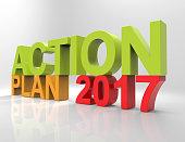 Action Plan 2017 Text on white