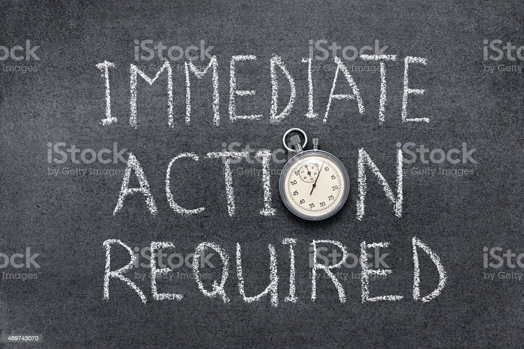 action required stock photo