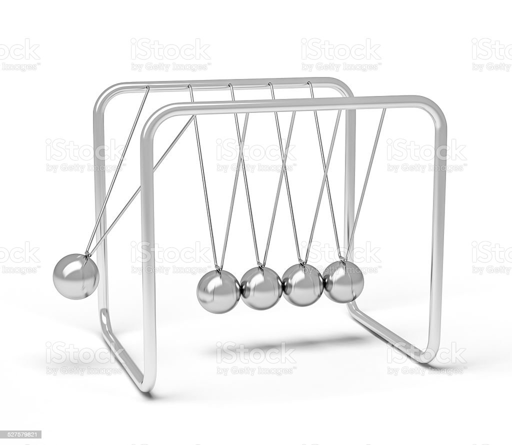 Action sequrence concept background - Newton's cradle executive stock photo