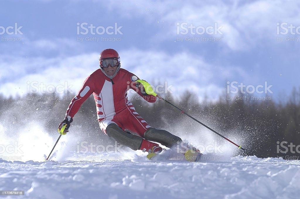 Action Ski royalty-free stock photo