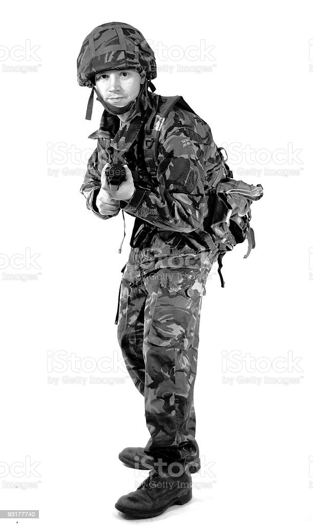 Action Soldier stock photo