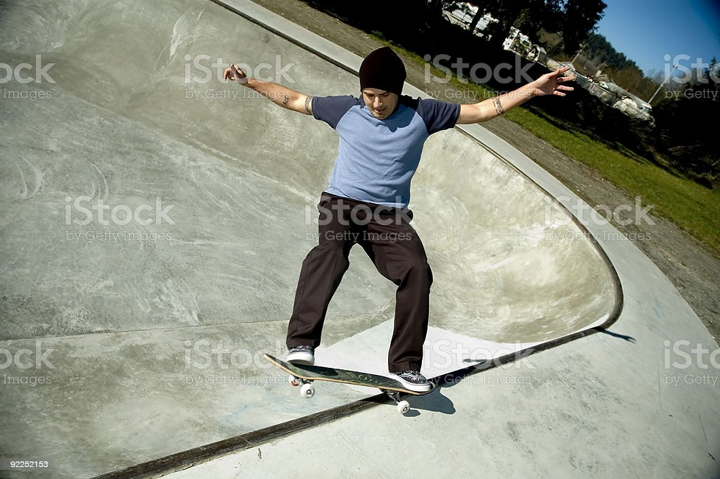 Action Sports - Carnation FS Smith Grind royalty-free stock photo