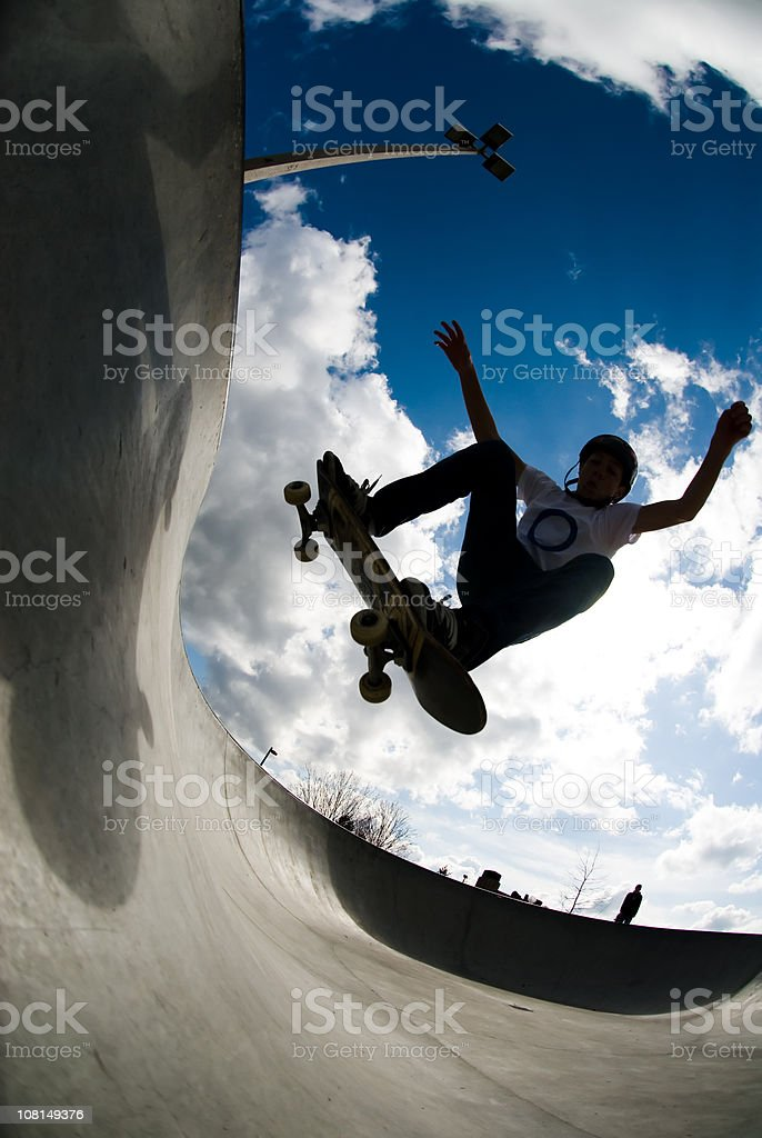 Action Sports - Concrete Wave royalty-free stock photo