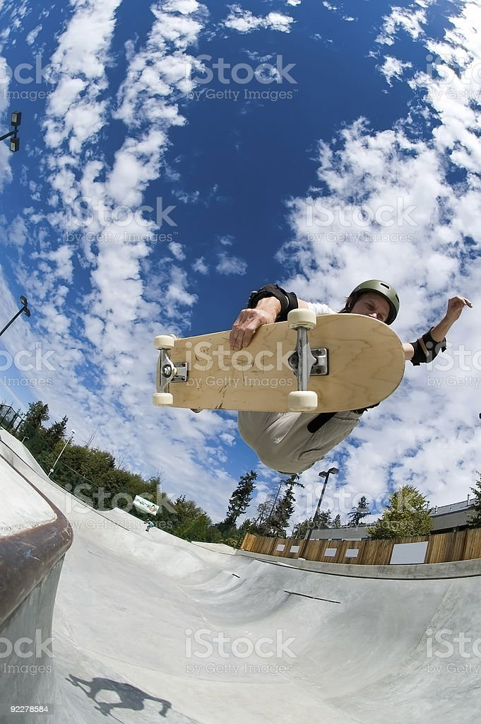 Action Sports - Frontside Air royalty-free stock photo