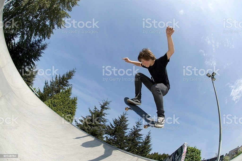 Action Sports - Josh BS Air royalty-free stock photo