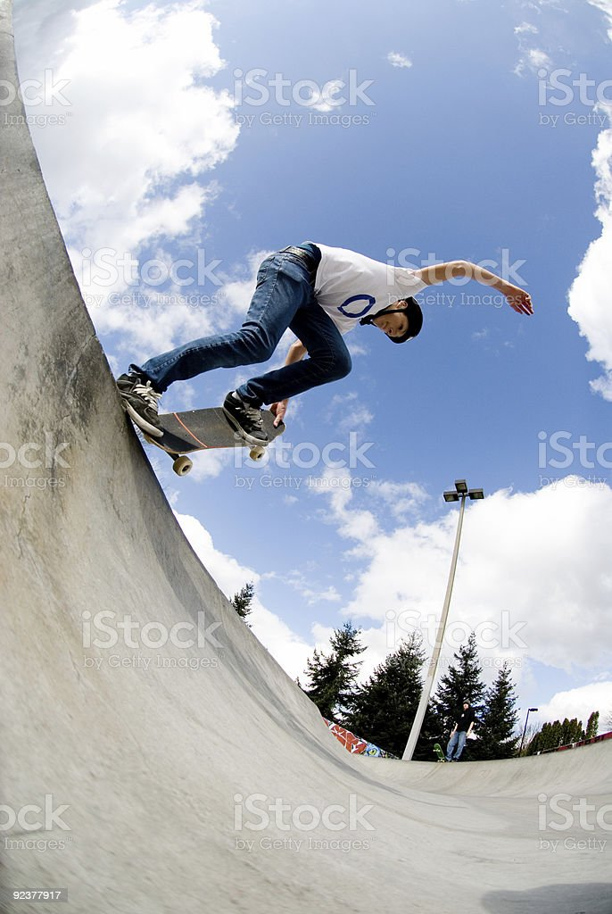 Action Sports - Nose Grab Tail Block royalty-free stock photo