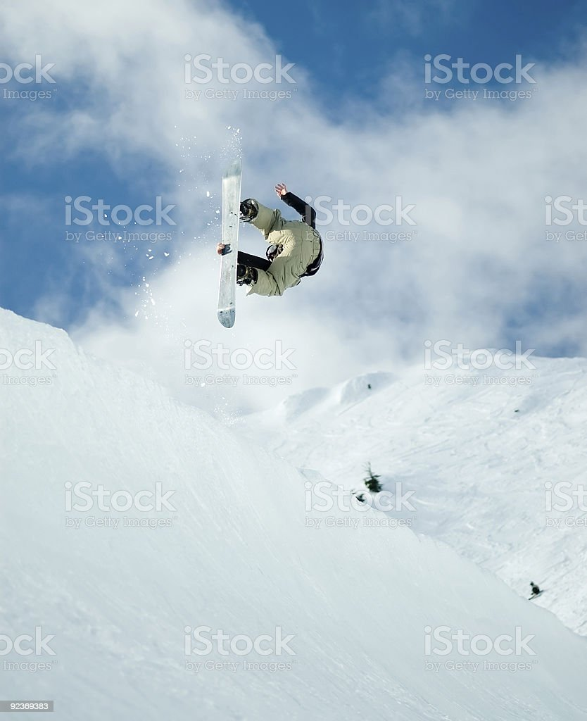 Action Sports - Offaxis Spin royalty-free stock photo