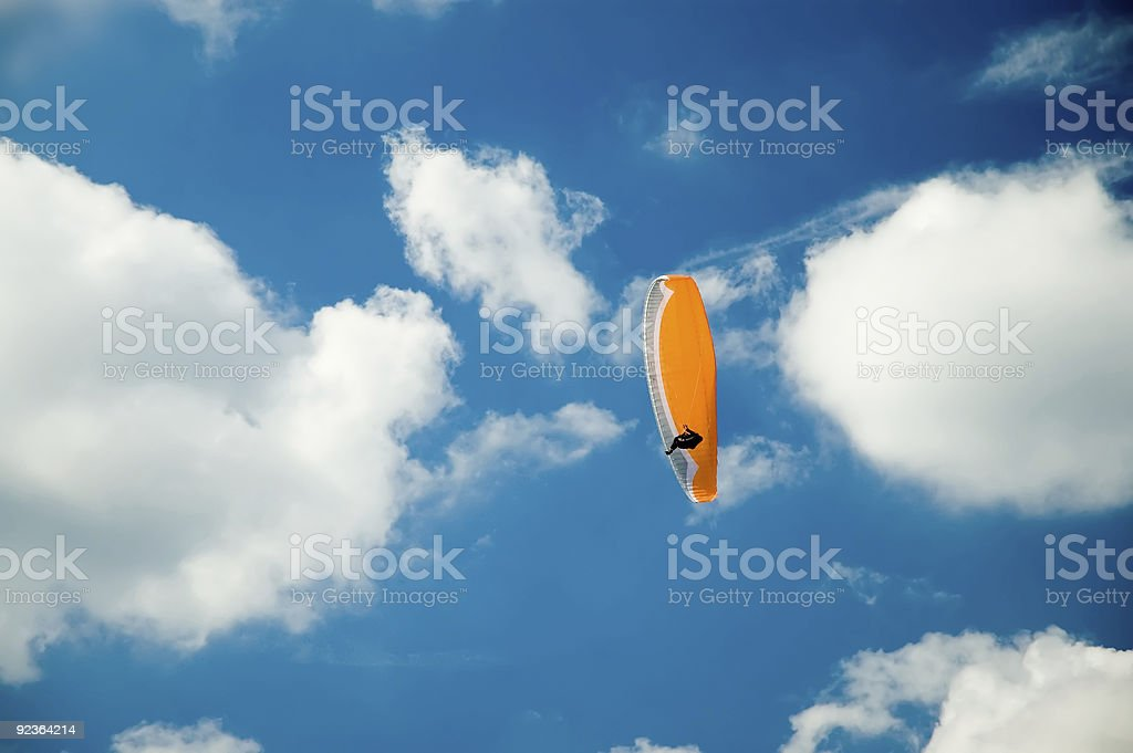 Action Sports - Paragliding in the Clouds royalty-free stock photo
