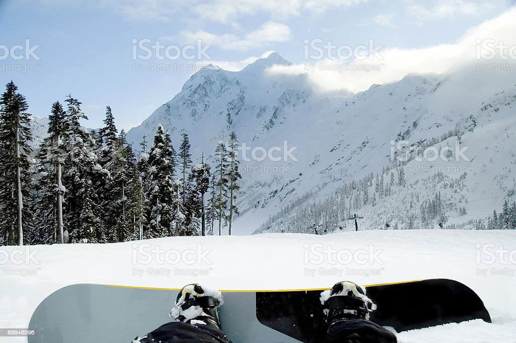 Action Sports - Snowboarder Resting 2 royalty-free stock photo
