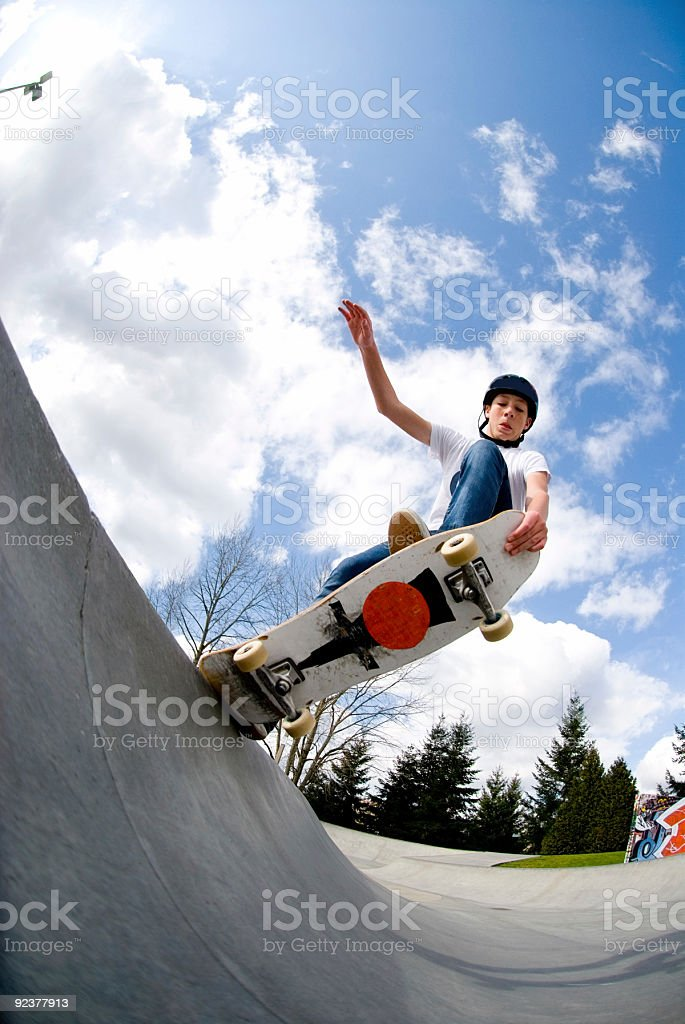 Action Sports - Tail Block royalty-free stock photo