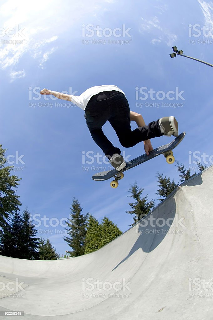 Action Sports - Youth Skateboard 5 royalty-free stock photo