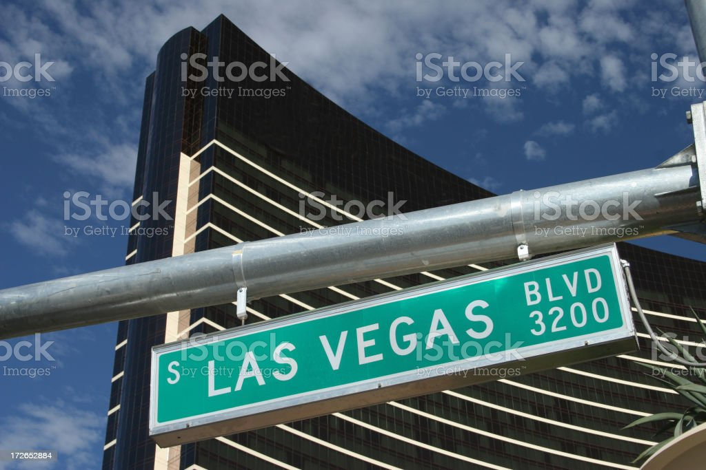 Action street Las Vegas royalty-free stock photo