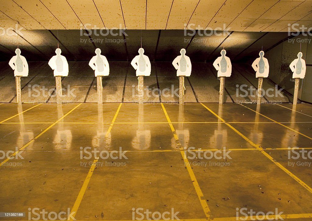 Action targets for SWAT training royalty-free stock photo