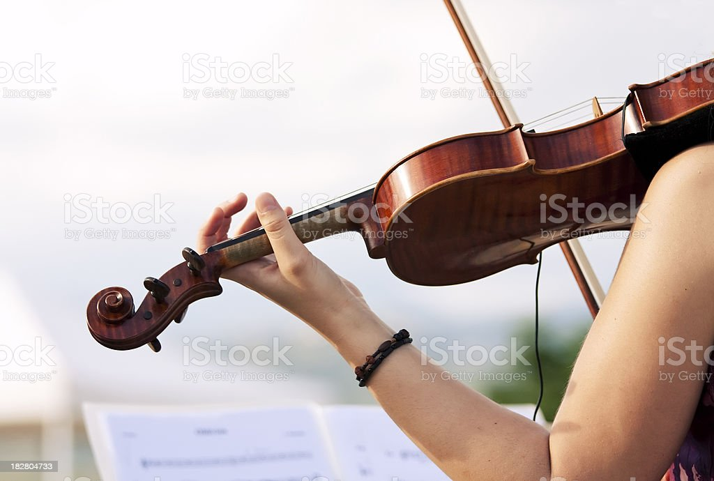 Action violinist, live musician stock photo