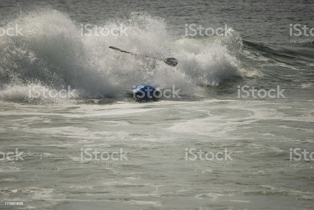 action wave kayaking royalty-free stock photo