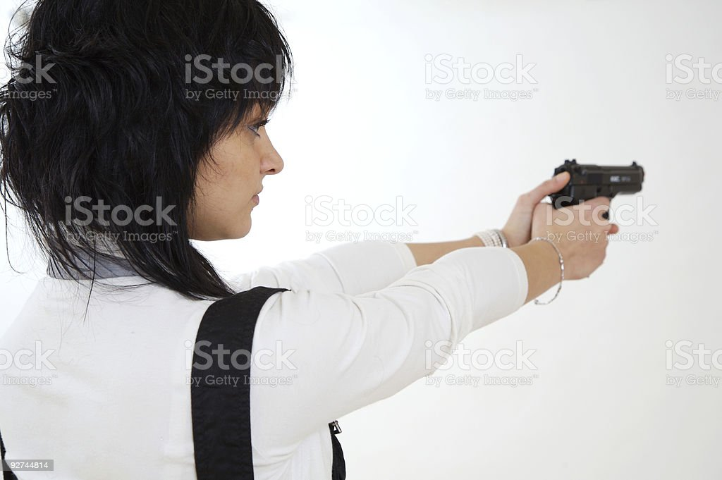 Action woman stock photo