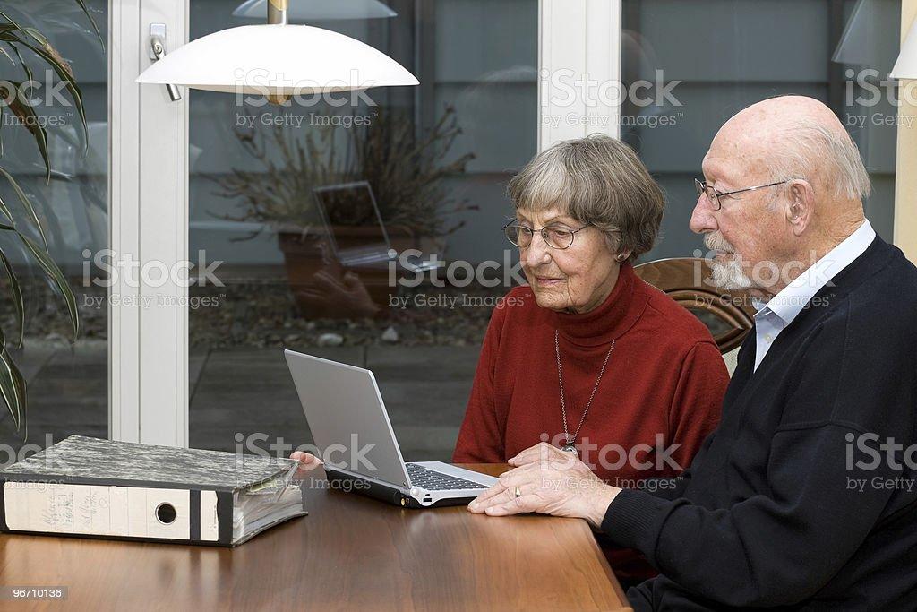 Activ senior people stock photo
