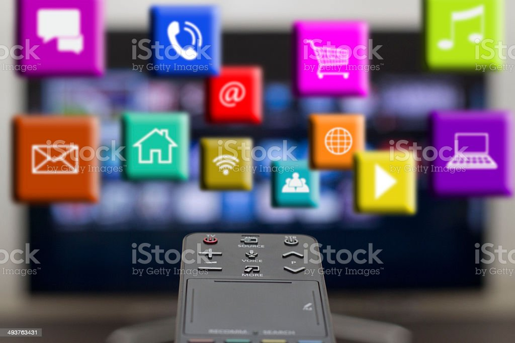 activation application on the smart TV stock photo