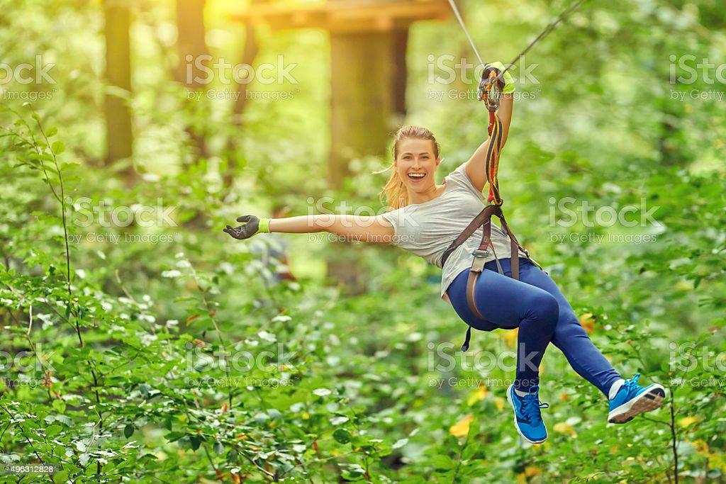 active and happy stock photo