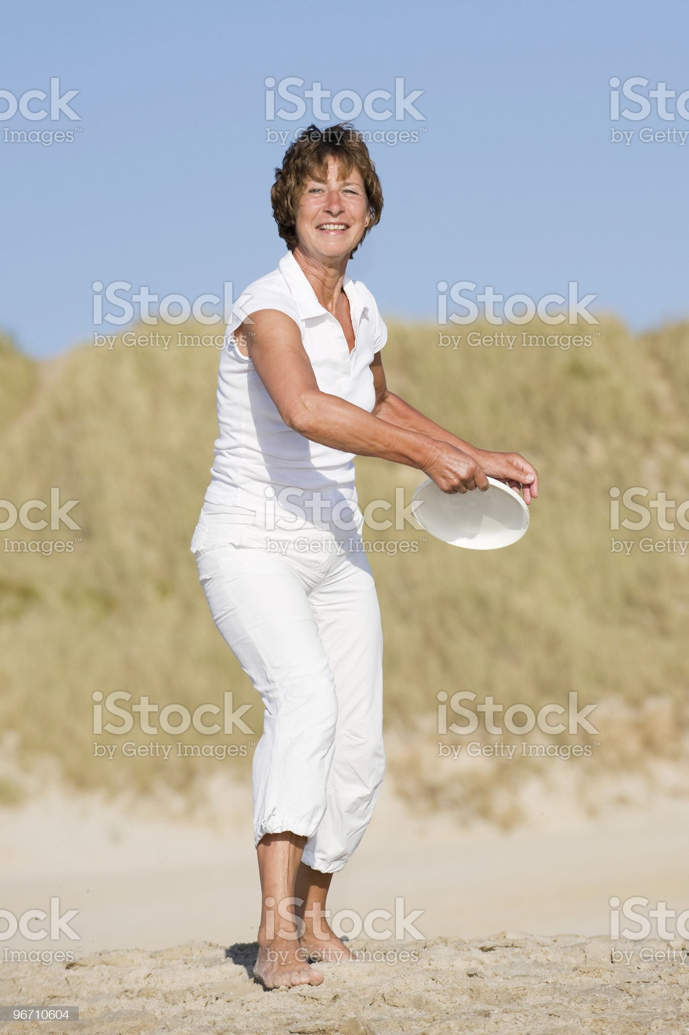 Active at the beach royalty-free stock photo