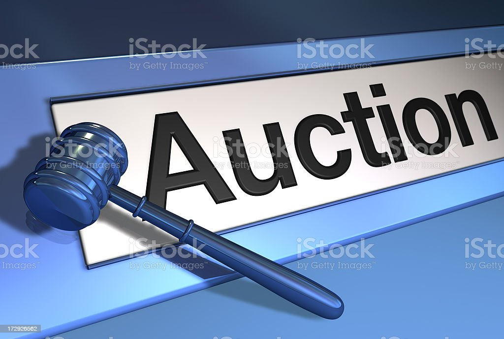 active auction royalty-free stock photo