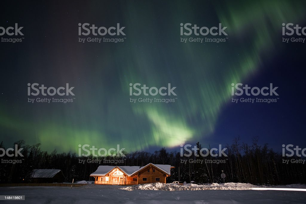Active Aurora Bolealis stock photo