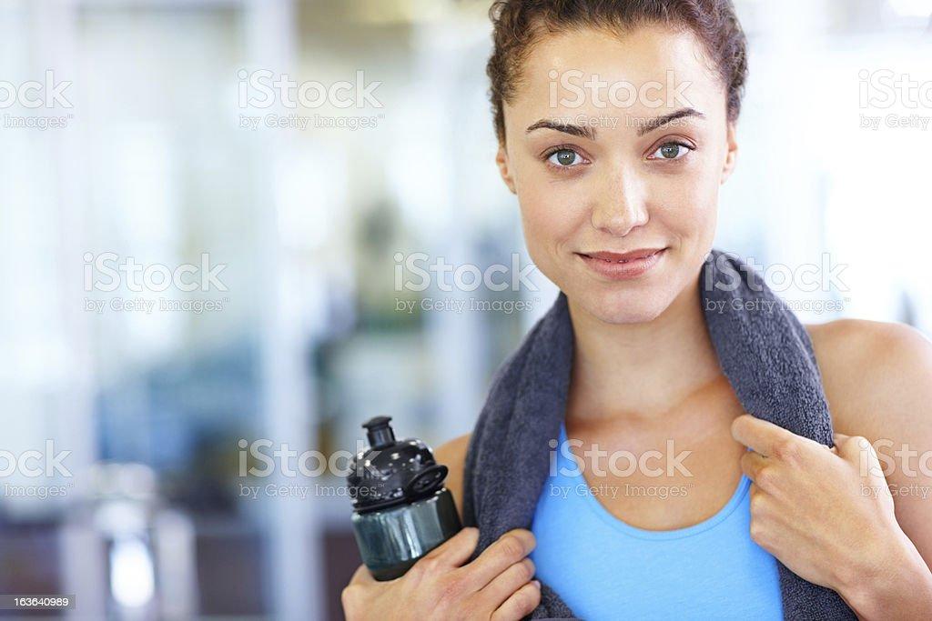 Active body; vital mind royalty-free stock photo