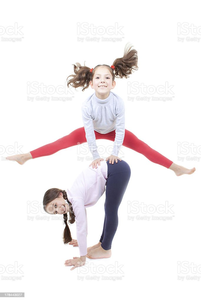 active children playing stock photo