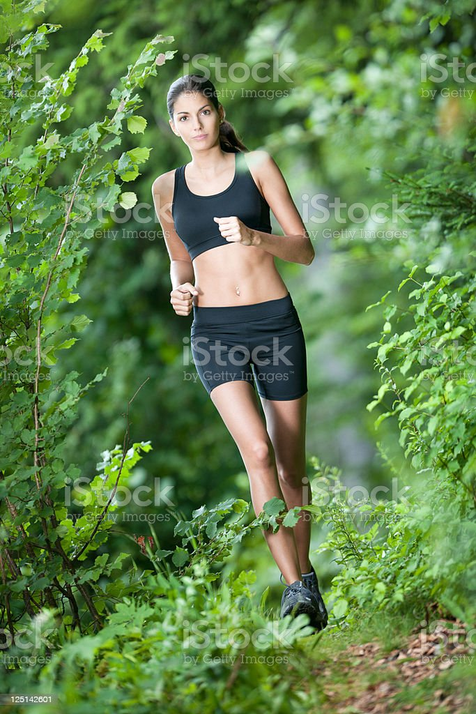 Active Cross Country Running Woman (XXXL) royalty-free stock photo