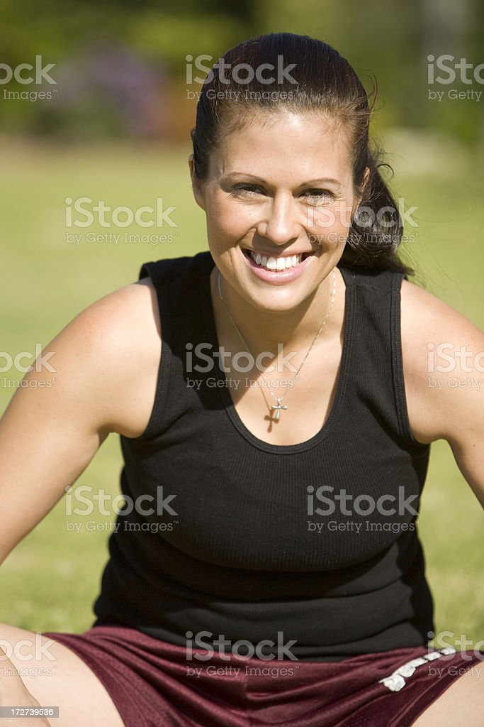 Active Female Resting royalty-free stock photo