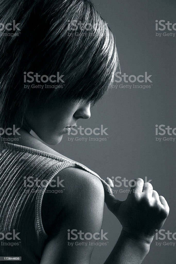 Active girl royalty-free stock photo