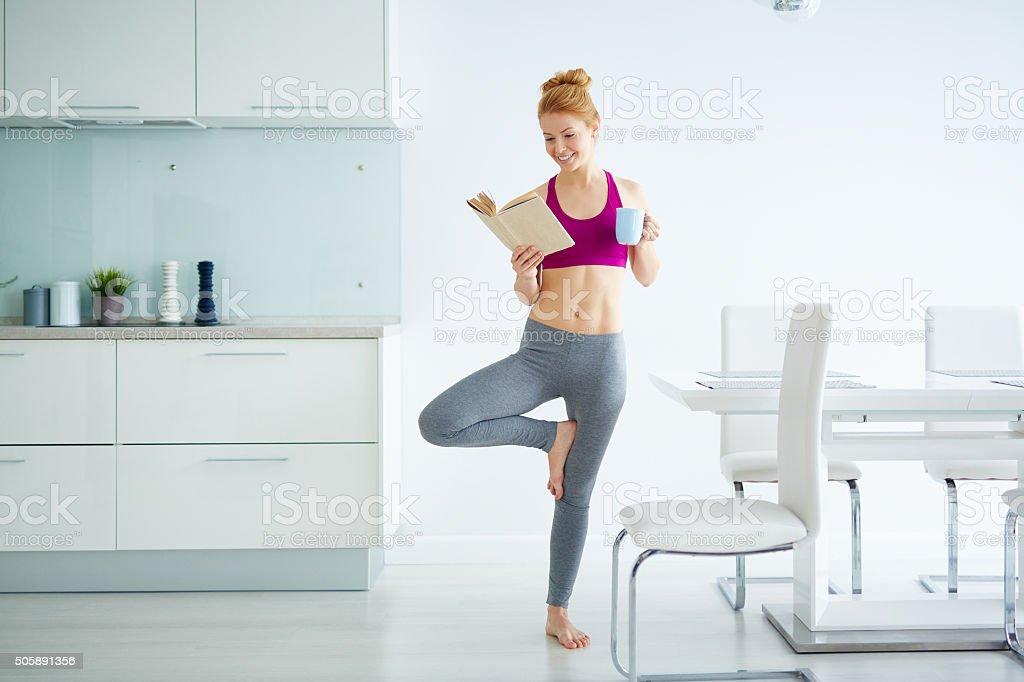 Active girl stock photo