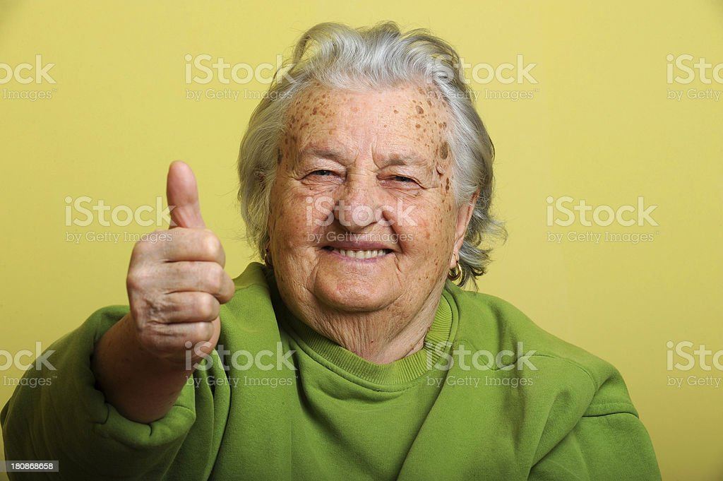 Active grandmother royalty-free stock photo