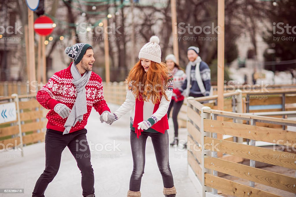 Active holidays in town stock photo